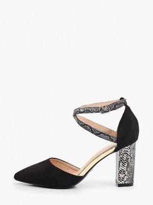 Черные кожаные туфли La Bottine Souriante