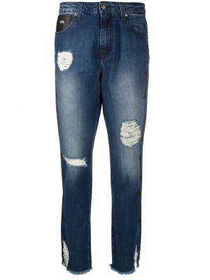 Прямые джинсы mom с мехом John Richmond