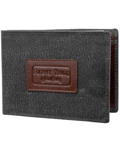 Кожаный кошелек - серый Forever Young