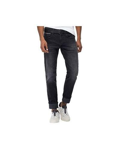 Хлопковые черные прямые джинсы Replay