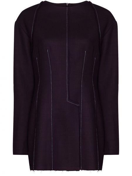 Фиолетовая шерстяная рубашка Richard Malone