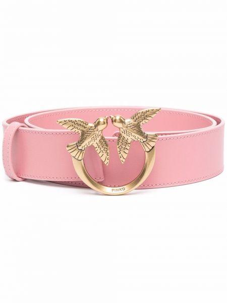 Розовый ремень с логотипом Pinko