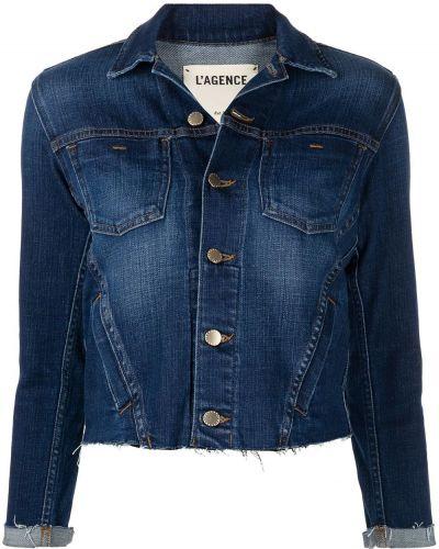Хлопковая джинсовая куртка - синяя L'agence