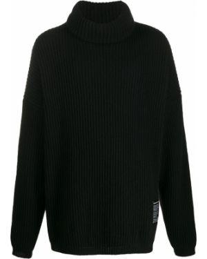 Черный длинный свитер в рубчик Odeur