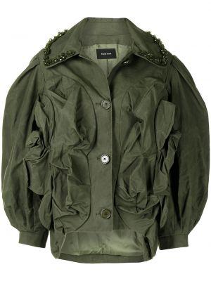 Зеленая куртка с аппликацией Simone Rocha