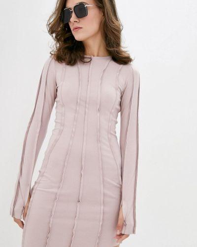 Прямое платье - розовое Ricamare