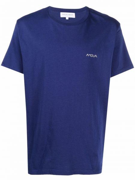 Niebieska t-shirt krótki rękaw Maison Labiche