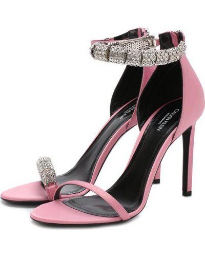 Розовые босоножки на шпильке Calvin Klein 205w39nyc