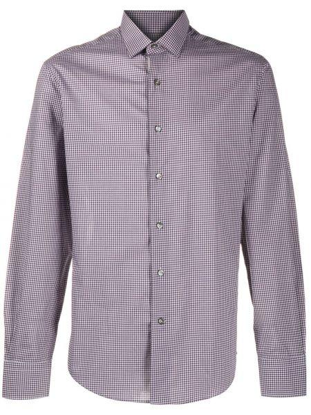 Koszula z długim rękawem klasyczna w kratę Lanvin