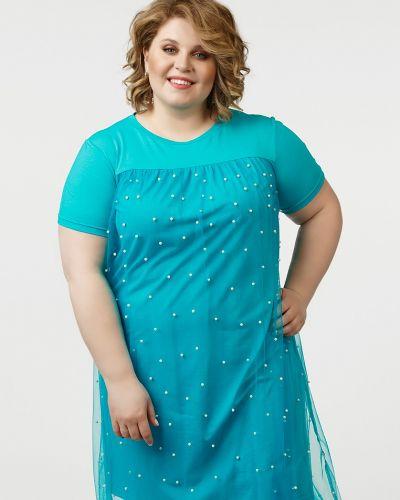 Вечернее платье для выпускного бирюзовый Jetti-plus