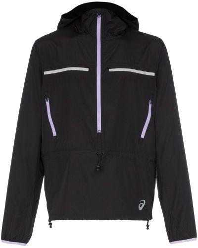 Спортивная куртка черная длинная Asics