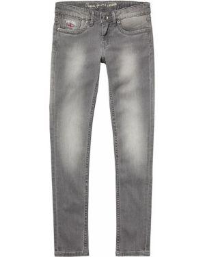 Серые джинсы с поясом Pepe Jeans