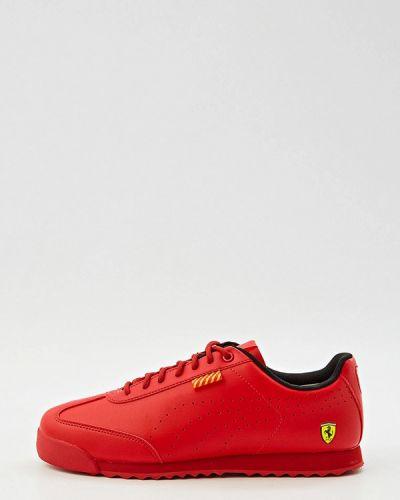 Красные кроссовки осенние Puma