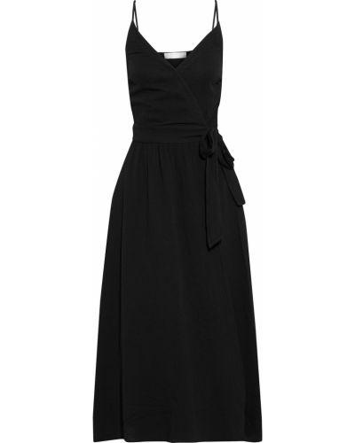 Хлопковое платье миди - черное Seafolly