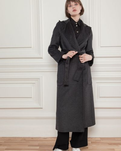 Шерстяное пальто - серое Dolcedonna