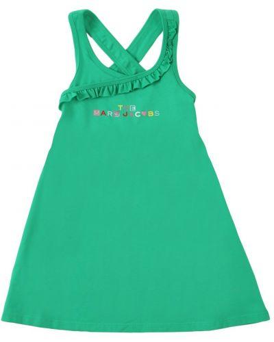 Трикотажное платье с оборками Little Marc Jacobs