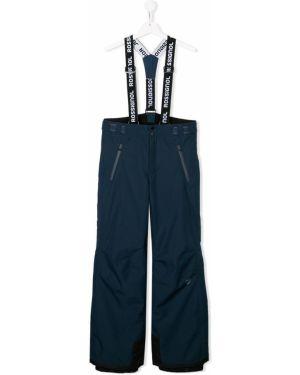 Прямые синие брюки с карманами на молнии Rossignol Kids