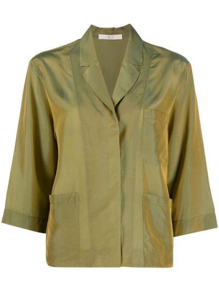 Зеленый пиджак на пуговицах с лацканами Tela
