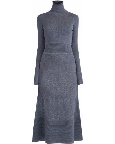 Платье миди с воротником шерстяное Agnona