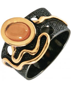 Кольцо из серебра позолоченный балтийское золото