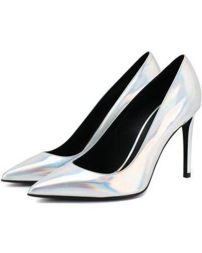 Туфли на высоком каблуке кожаные на шпильке Balmain