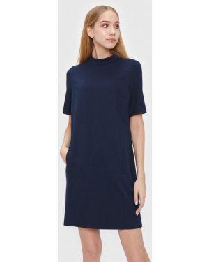 Платье прямое синее Bizzarro