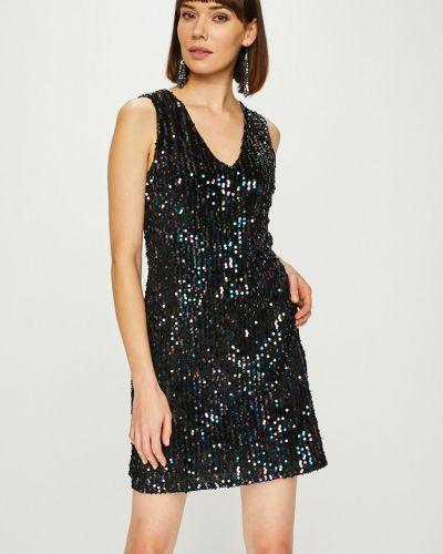 Платье мини с пайетками однотонное Answear