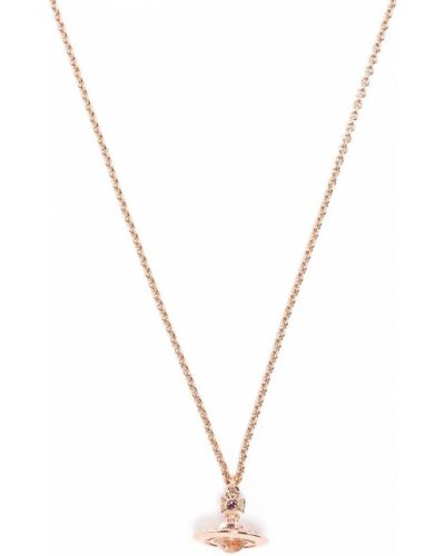 Тонкое ожерелье металлическое с подвесками Vivienne Westwood