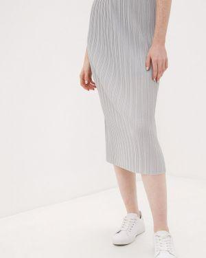 Платье серое плиссированное Danmaralex