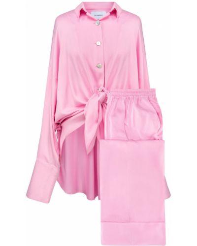 Różowa satynowa piżama Sleeper