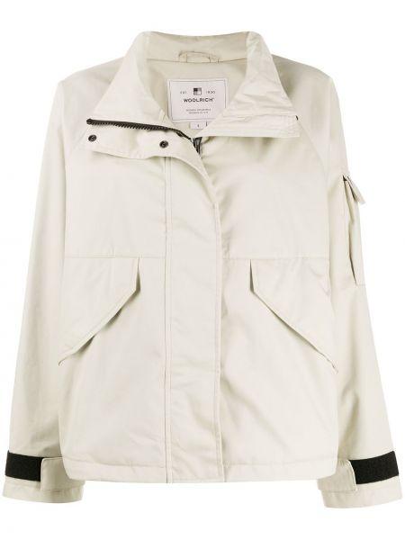 Длинная куртка с карманами укороченная Woolrich