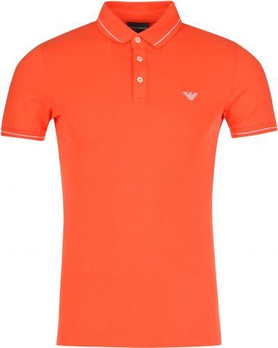 Поло оранжевый Emporio Armani