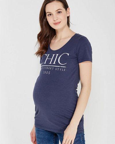 Синяя футболка для беременных Mama.licious