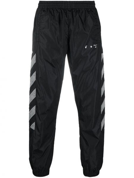 Prosto czarny spodnie z paskami Off-white