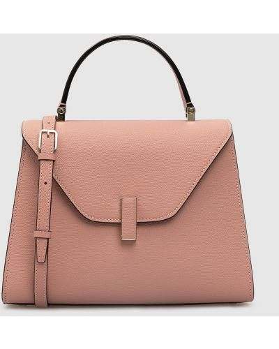 Кожаная розовая кожаная сумка Valextra