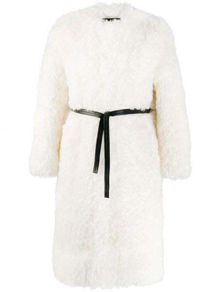 Белое пальто оверсайз с капюшоном Givenchy