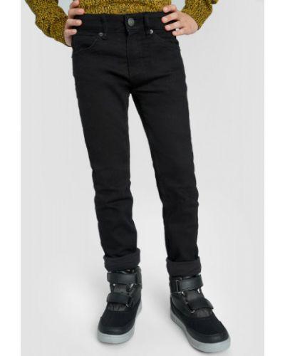 Зауженные черные джинсы классические с карманами Ostin