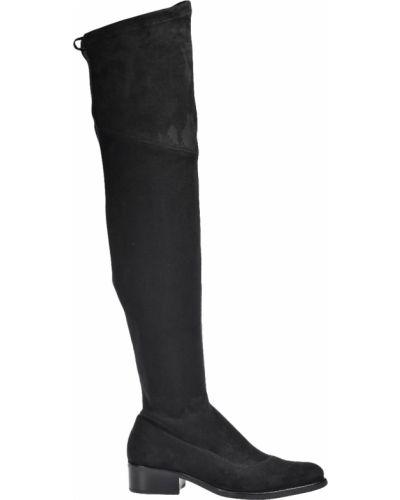 Ботфорты на каблуке кожаные замшевые Schutz