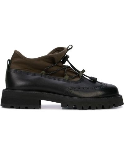 Черные туфли с перфорацией на каблуке Hender Scheme