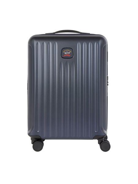 Niebieski walizka z kieszeniami z zamkiem błyskawicznym Paul & Shark