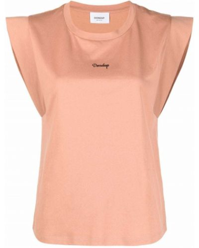 Розовая прямая футболка без рукавов Dondup