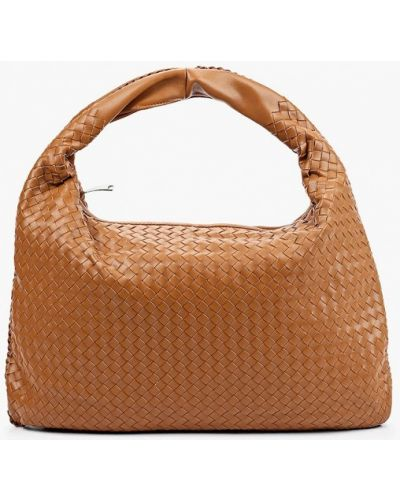Коричневая кожаная сумка Marco Bonne