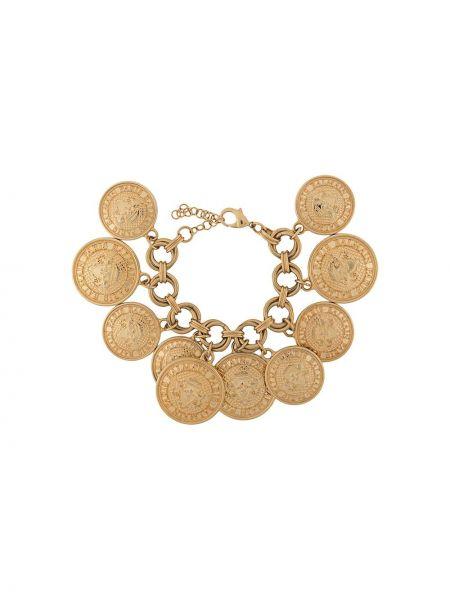 Золотистый желтый браслет металлический позолоченный Balmain Pre-owned