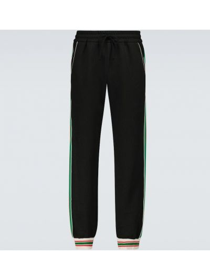 Czarne spodnie dresowe Gucci