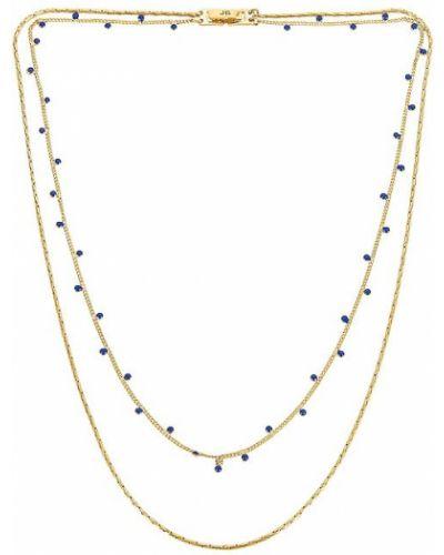 Niebieski złoty naszyjnik łańcuch Jenny Bird
