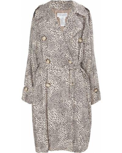 Пальто классическое леопардовый с принтом Yves Saint Laurent Vintage