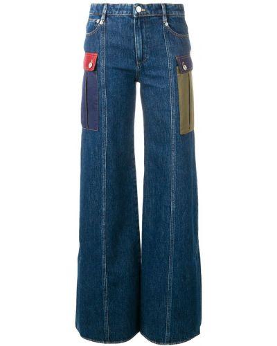 Широкие джинсы на пуговицах с поясом Sonia Rykiel