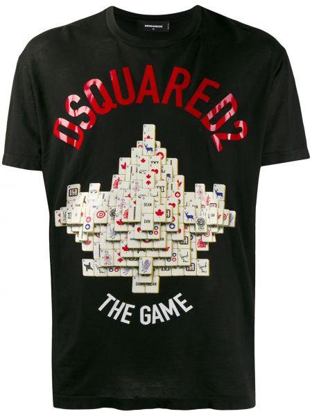 Koszula krótkie z krótkim rękawem prosto z cięciem Dsquared2