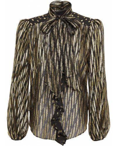 Czarna bluzka zapinane na guziki Rachel Zoe