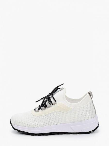 Белые текстильные кроссовки Pierre Cardin